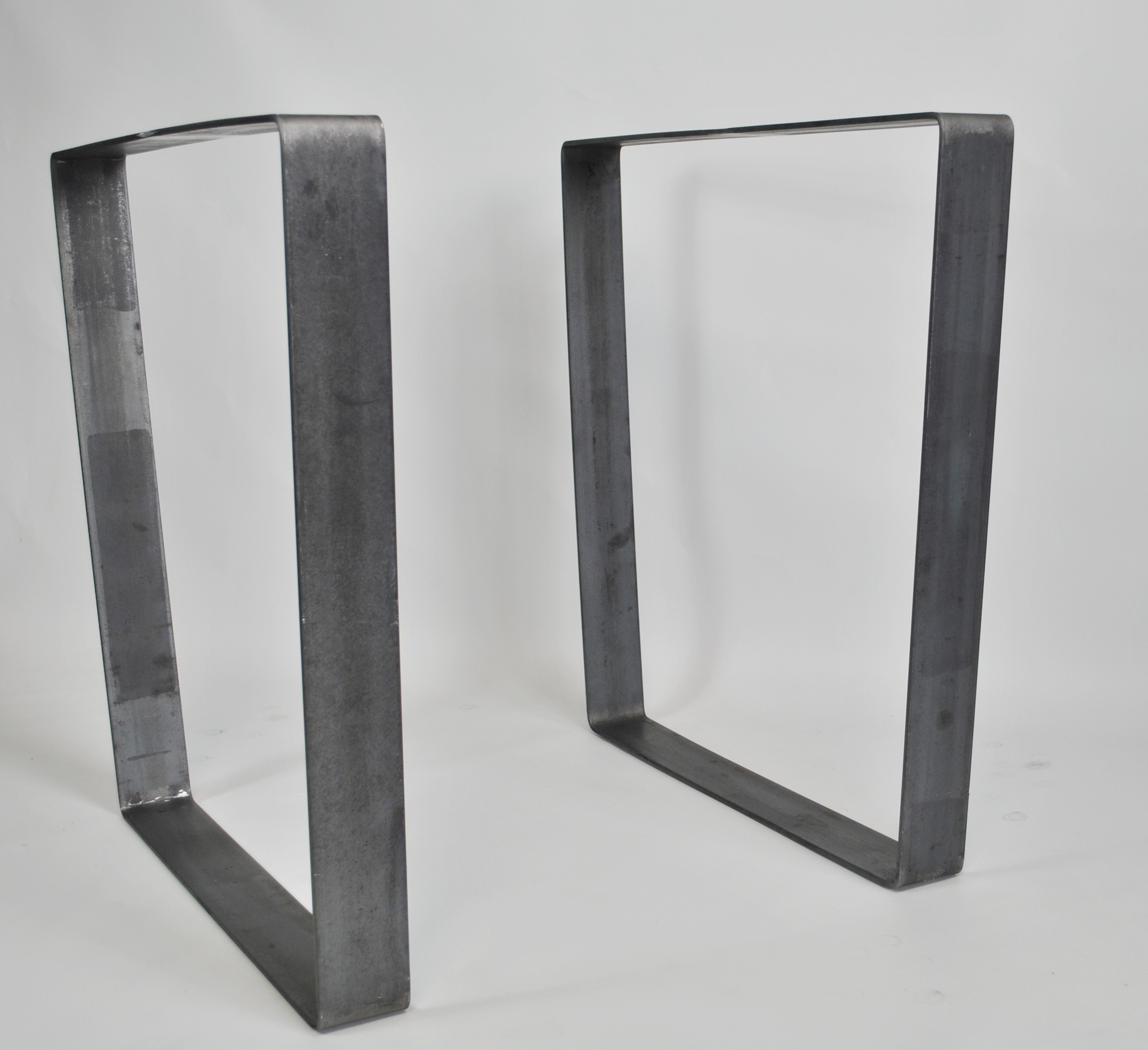 Trapezoid Metal Table Base Set Of 2pcs